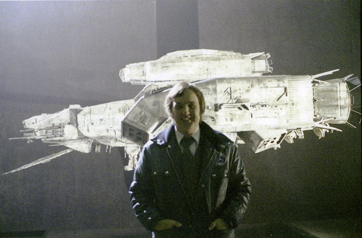 Pat in front of the Nostromo