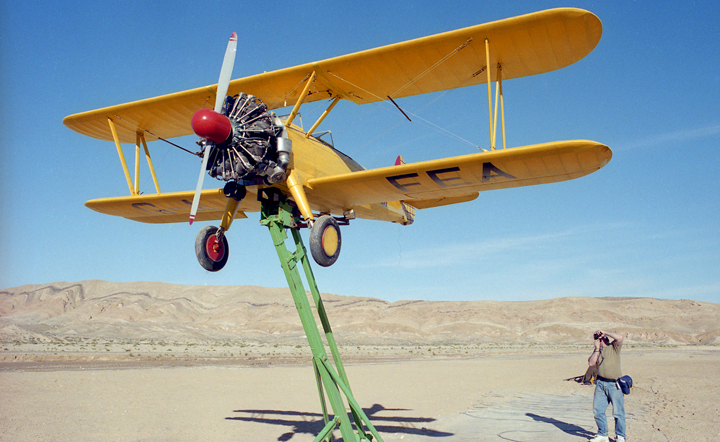 Stearman on dolly