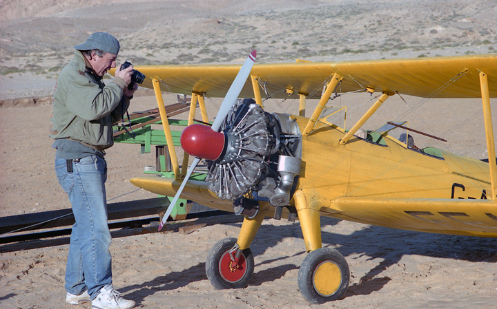Terry Bridle photographs Stearman
