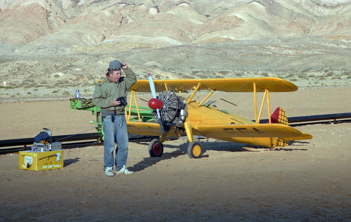 Terry Bridle with Stearman