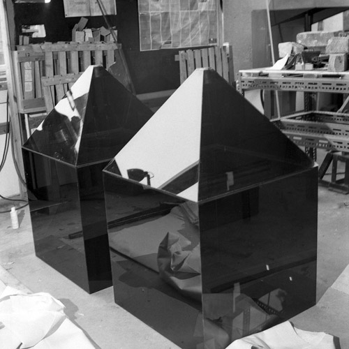 perspex pyramid by Paul Reece
