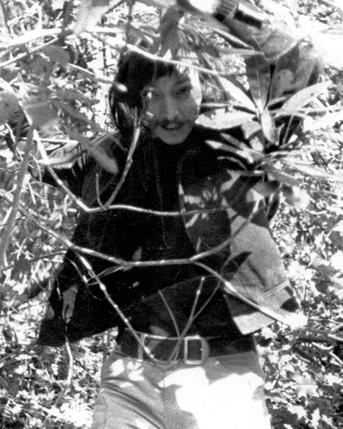 Louis Turpin in the bushes
