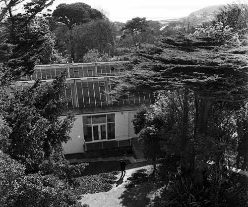Falmouth Art School - view from Rosehill house