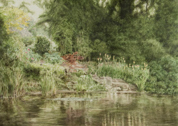 Lake at Cliveden (watercolour)
