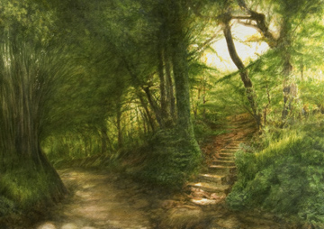 Lane in Forty Green - watercolour