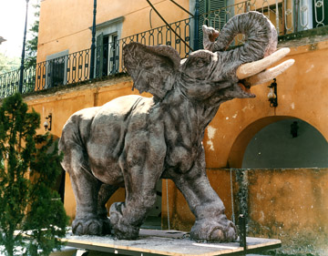 Elephant - made for Bagni di Lucca Carnival (plaster and sacking)